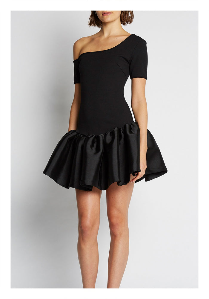 BY JOHNNY BOLD SHOULDER GATHER MINI DRESS