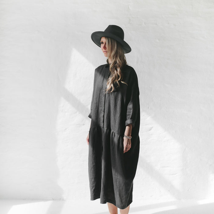 SEASIDE TONES Oversized Dress DARK GREY