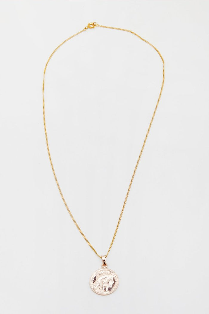 Reliquia MINI LUCKY COIN NECKLACE GOLD