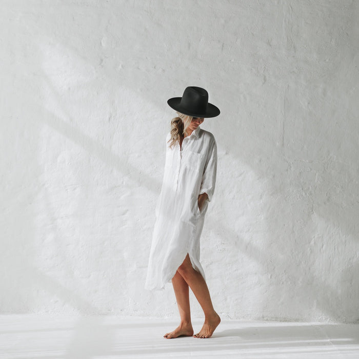 SEASIDE TONES Shirt Dress White