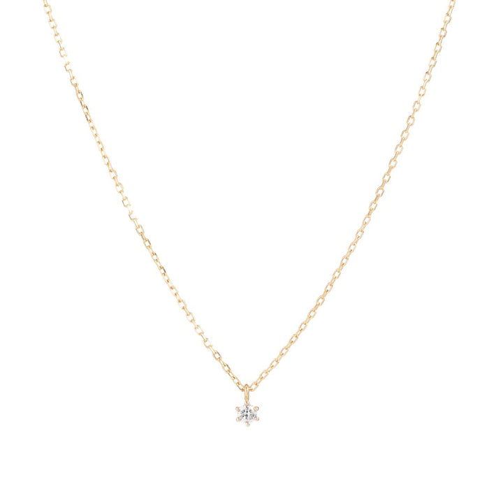 BY CHARLOTTE 14K GOLD SWEET DROPLET DIAMOND NECKLACE