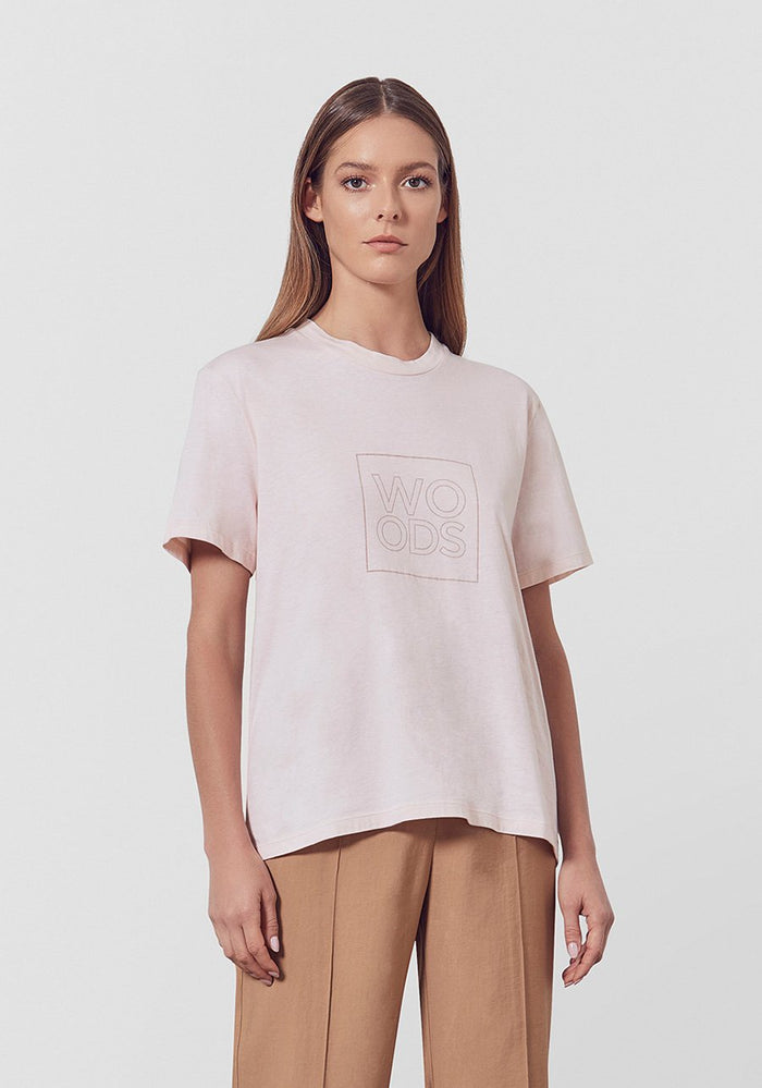 VIKTORIA AND WOODS WOODS BOX TEE PEARL