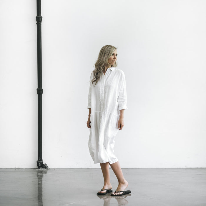 SEASIDE TONES Oversized Dress WHITE