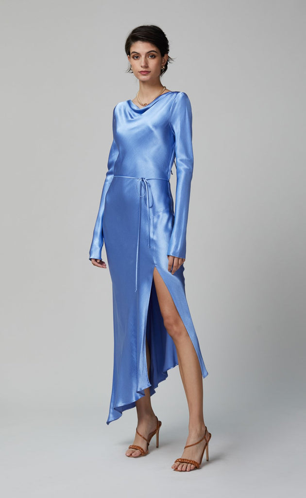 BEC AND BRIDGE DELPHINE LONG SLEEVE MIDI DRESS