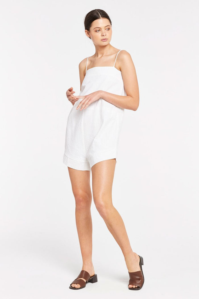 ZULU AND ZEPHYR WHITE SAGE PLAYSUIT