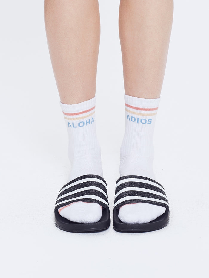 Mother Baby Steps Socks - Aloha/Adios