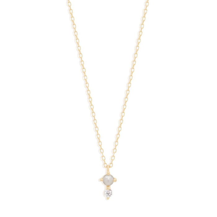 BY CHARLOTTE 14K GOLD LIGHT OF THE MOON DIAMOND NECKLACE