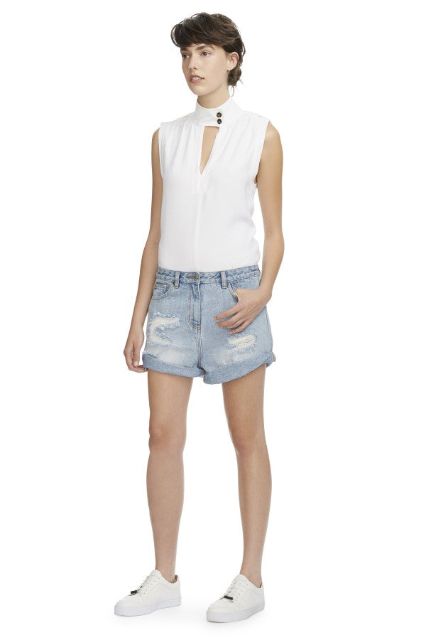Camilla and Marc Delphine Denim Short Mid Blue
