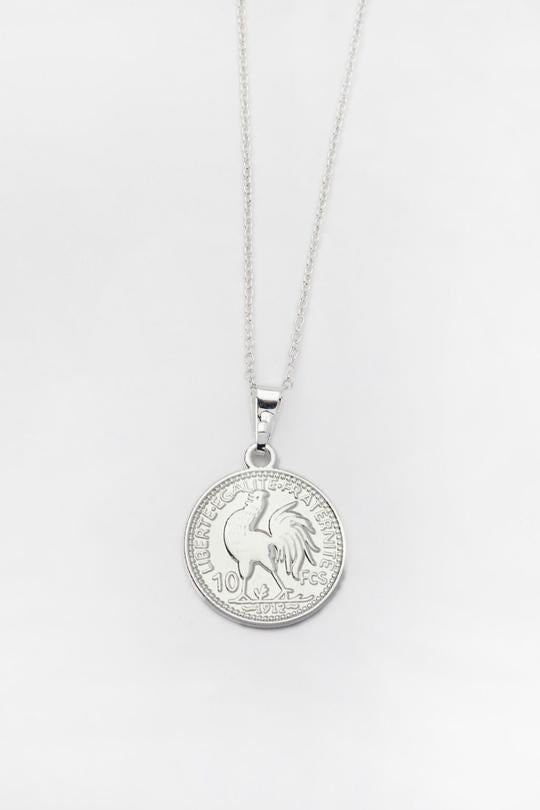 Reliquia MINI LUCKY COIN NECKLACE SILVER