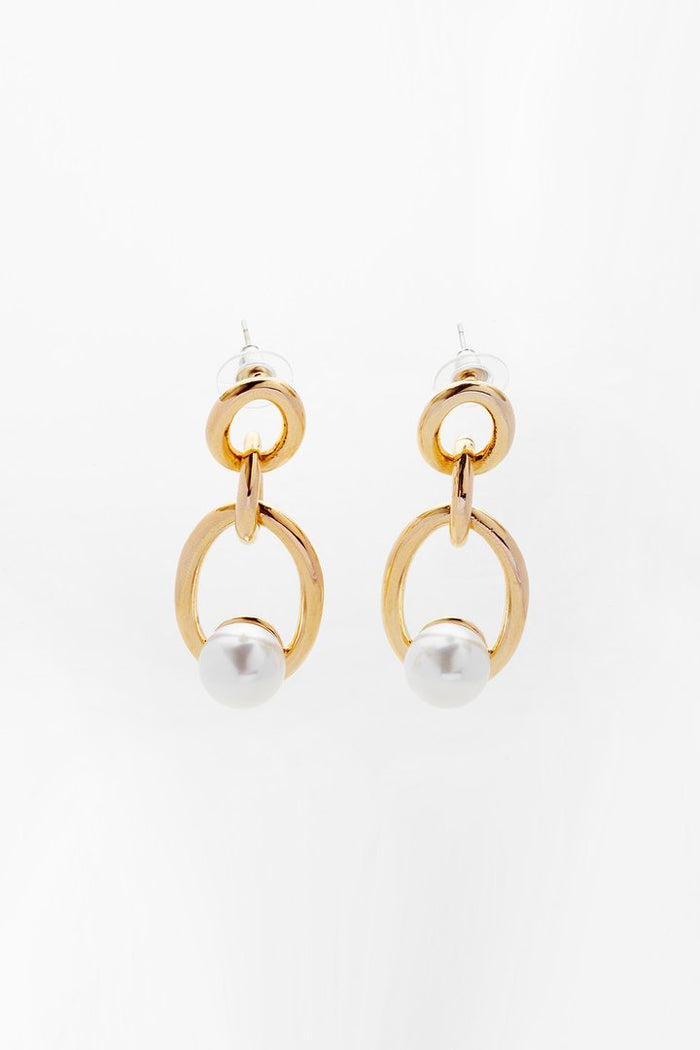 RELIQUIA CHAIN PEARL EARRINGS