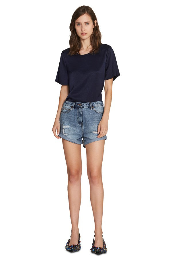 CAMILLA AND MAC DELPHINE DENIM SHORT MID BLUE