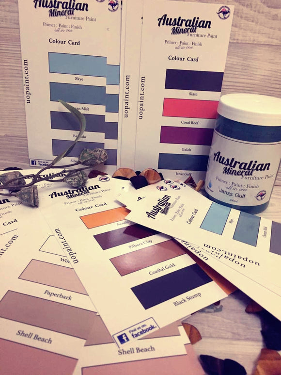 Australian Mineral Paint Colour Cards Unique Options Unique Options - Unique Options