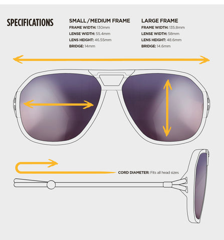 Ombraz frame specs and sizes