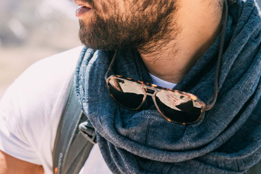 Tortoise_grey Ombraz Armless Sunglasses - Ombraz solve what frustrates you about sunglasses. Handmade frames attach directly to an adjustable cord that keeps the sunglasses securely & comfortably in place. 2019 Sunglass of the year from Backpacker Magazine, Ombraz are lightweight, easy to pack & stow & are equipped with world-class polarized Zeiss lenses. Armless sunglasses with a built-in cord.