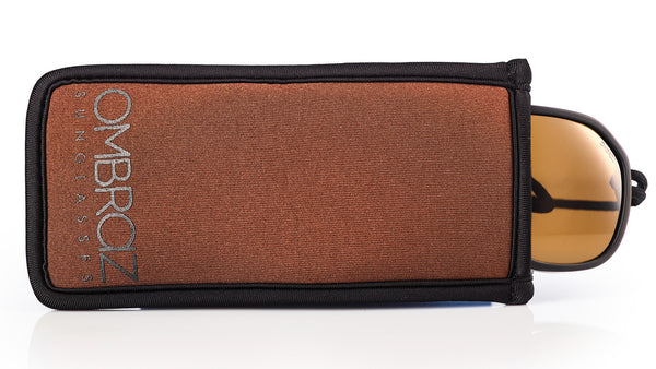 Neoprene Case with Built-In Microfiber - Armless sunglasses with a built-in cord