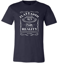 Flat Earth Reality White Print Fitted Tee