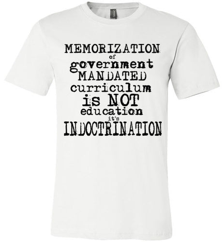 indoctrination flat earth t-shirt