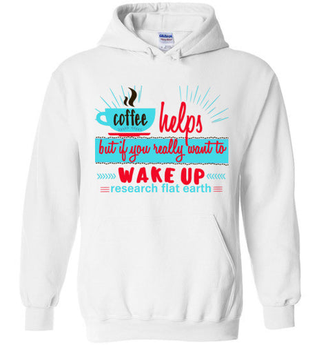 Wake Up Retro Style -Research Flat Earth Hoodie