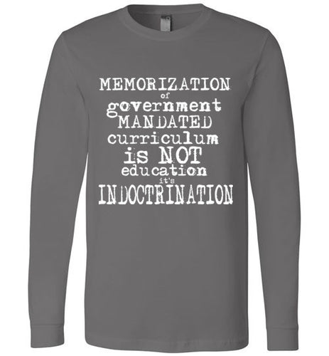INDOCTRINATION TRUTH flat earth LONG SLEEVE  t-shirt