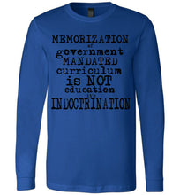 indoctrination flat earth long sleeve t-shirt