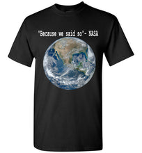 flat earth blue marble t-shirt