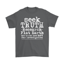 seek truth research flat earth