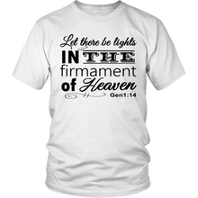 Let there be lights IN the firmament Flat Earth Scripture T-shirt Value Tee