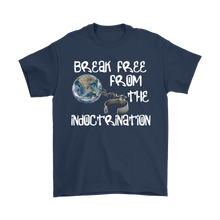 break free from indoctrination flat earth value tee