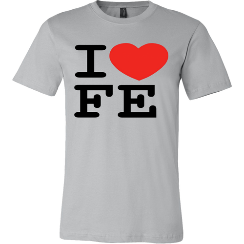 i heart FE flat earth t-shirt