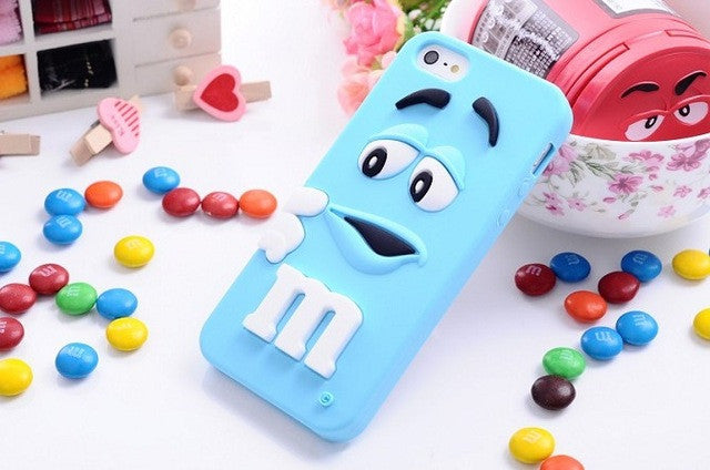New Arrive M&M's chocolate candy rubber soft silicone cover for Iphone - Wise Superstore