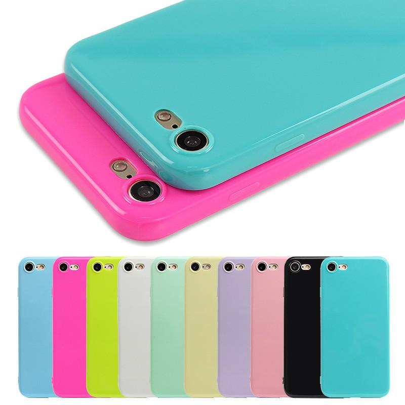 Fashion Candy Color Jelly Soft Silicone Shockproof Case for IPhone - Wise Superstore