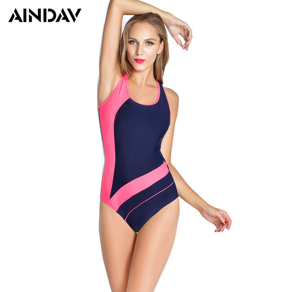 Women Professional Sport Triangular Swimsuit One Piece