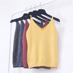 Sexy Women Fashion Knitting Vest Top Sleeveless - Wise Superstore