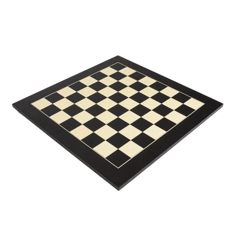 "Deluxe Black Wood Chess Board with 2.125"" Squares"