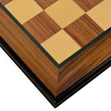 "Rosewood & Maple Chess Board with 2"" Squares"