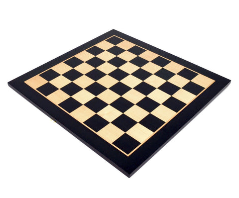 "Black Wood Chess Board with 2"" Squares"