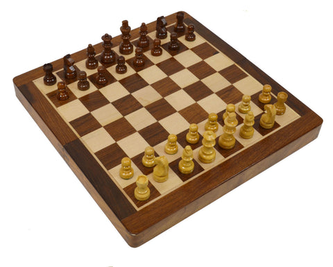 "14"" Folding Magnetic Chess Set"
