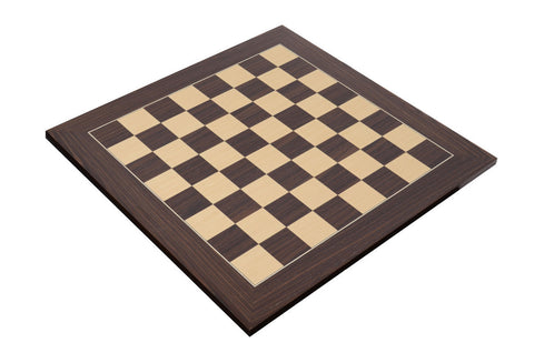 "Deluxe Macassar Wood Chess Board with 2.125"" Squares"