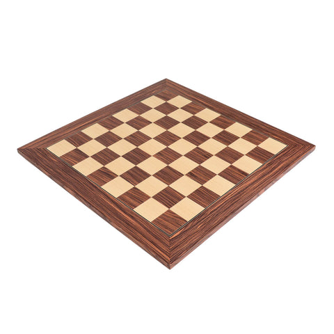 "Deluxe Rosewood Wood Chess Board with 2.125"" Squares"