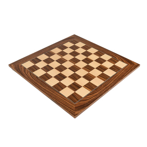 "Deluxe Santos Palisander Wood Chess Board 2.125"" Squares"