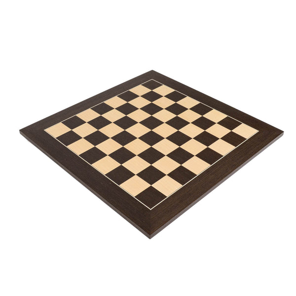 "Deluxe Wenge Wood Chess Board with 2.125"" Squares"