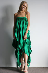 Cedar Pleat Dress Green