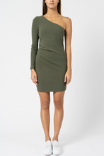 Load image into Gallery viewer, Belle One Shoulder Dress - Khaki