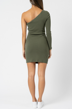 Load image into Gallery viewer, Bella One Shoulder Dress - Khaki