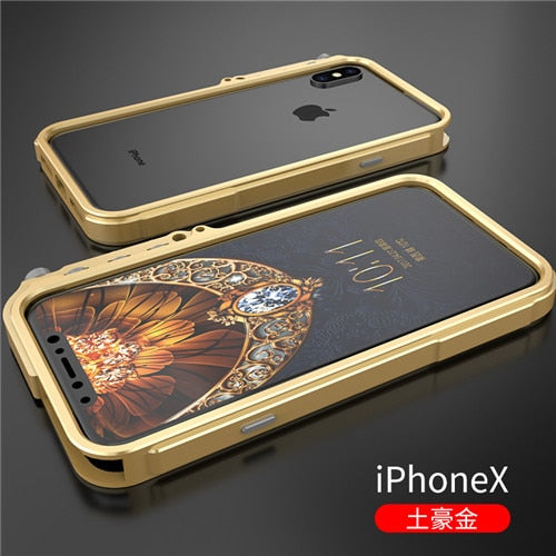 Tactical edition metal bumper for iphone X 7 8 5 5S SE 4 6 6S Plus