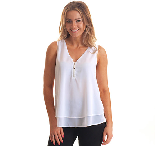 Contrast Top-White