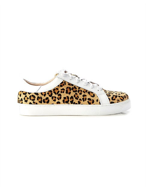 Amy Sneaker-   Mini Tan Leopard