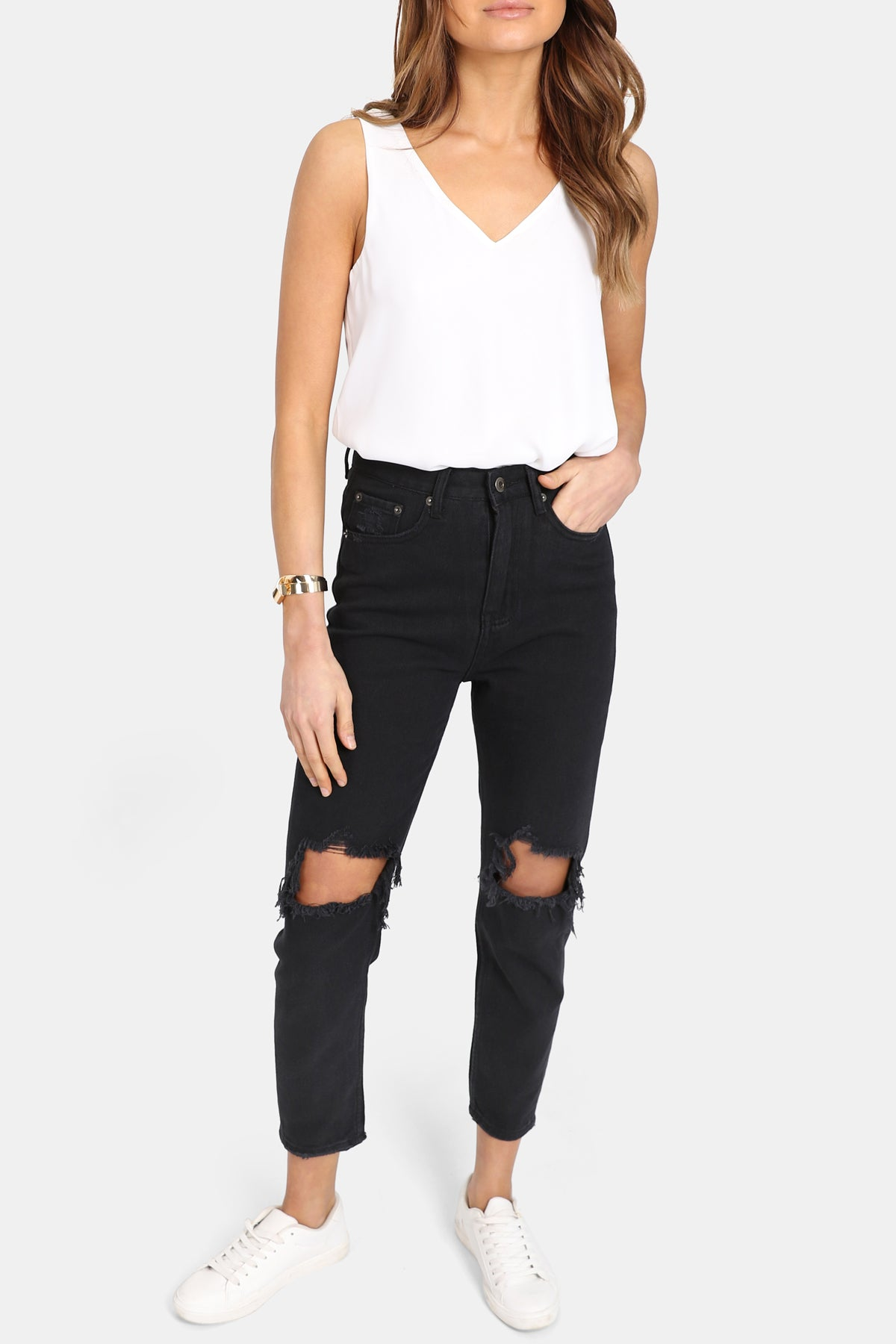 Harley Mom Jeans | Black