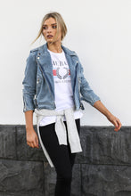 Avery Biker Jacket | Denim
