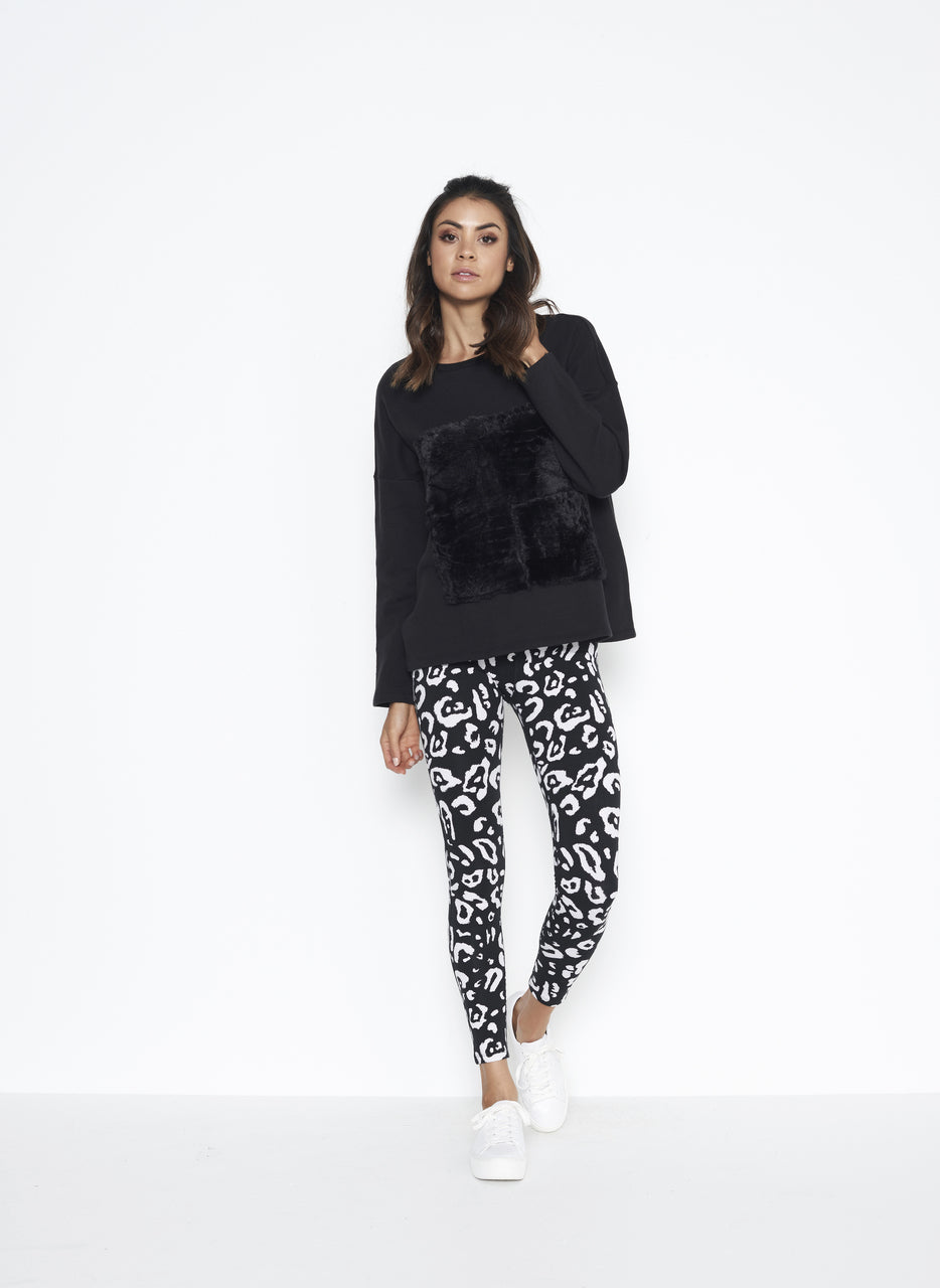 Mason Leggings Black Leopard